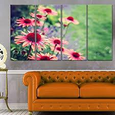 design art designart mt11842 271 beautiful pink echinacea flowers large floral glossy metal wall on amazon metal wall art flowers with amazon design art designart mt11842 271 beautiful pink