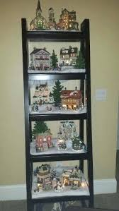 Christmas Tree Village Display Stands Gorgeous Christmas Village Ladder Christmas Village Ladder Display Plans