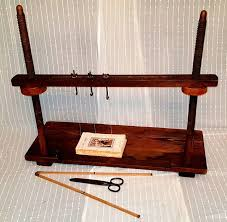 wooden sewing bench applied tools for book restoration 1908 1912 1908
