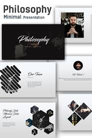 Free Interactive Ppt Templates Philosophy Minimal Powerpoint Template 68385 Free