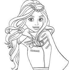 Evie Descendants Coloring Pages Great Free Clipart Silhouette