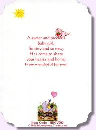 New Baby Girl Verse Nbgv002 Card Verses And Quotes