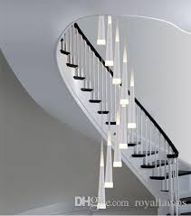 stairwell lighting. Long Stairway 9 Led Pendant Lights Spiral Stair Lighting Lamps Stairwell Lustre Art Studio Modern Cone Luminaria Glass Lamp Hanging H