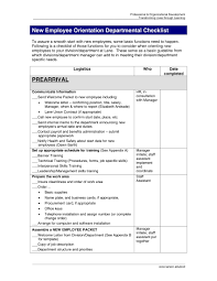 005 Template Ideas New Employee Orientation Department