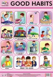 Good Manners Chart For Class 1 Good Habits Chart Manners For Kids Good Habits For Kids