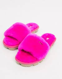 Ярко-розовые <b>шлепанцы UGG</b> | Evesham-nj