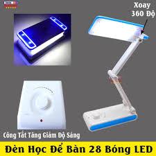 Đèn Trợ Sáng Học Bài 28 Bóng LED - Chống Cận Xoay 360 Độ - Công Tắt Đèn  Tăng Giảm Độ Sáng DP-6003