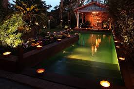 garden lights for the pool beautiful lighting pool