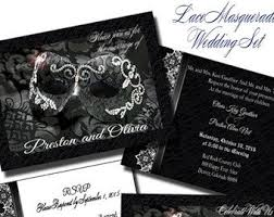 Masquerade Wedding Invites Masquerade Wedding Etsy