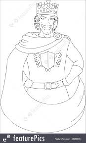 Small Picture Illustration Of Young King With Crown Coloring Page