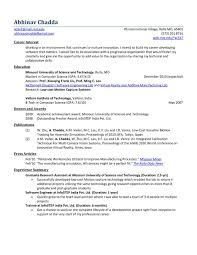 Sample Resume Format For Freshers Computer Engineers