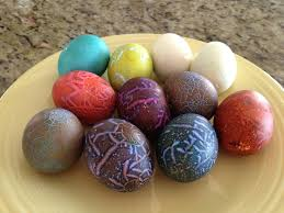 this is the easter egg trick where you the eggs before dyeing them after hard boiling isn t it craze y the ss almost look ed like crazed