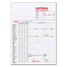 contractor forms templates electrical contractor forms custom carbonless designsnprint