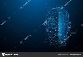 Biometric Technology Biometric Technology Digital Face Scanning Form Lines Triangles