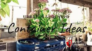 urban gardening container ideas tips