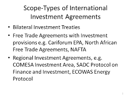 Bilateral Investment Treaties And Regional Initiatives And ...