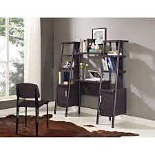 ladder desk with shelves leaning wall home office furniture set