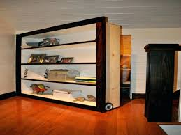 Hidden Door Bookshelf Plans Free Invisidoor Bookcase Hardware Diy Outswing.  Secret Hidden Bookcase Door Downloadable Pdf ...