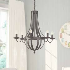 birch lane foulds 6 light candle style chandelier reviews within candle style chandelier