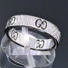 gucci ring. gucci jewelry 18k white gold diamond icon stardust 4mm eternity band ring size 5
