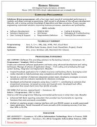 Sample Programmer Resume Download Computer Programmer Resume Sample DiplomaticRegatta 23