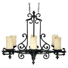 six light wrought iron candle chandelier real uk