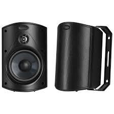 speakers pair. polk audio atrium 4 80-watt all-weather outdoor speaker - pair : home speakers best buy canada