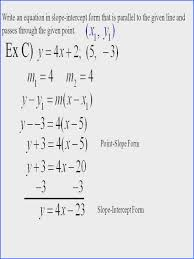 writing equations using slope intercept form worksheet 4 write an equation in parallel and perpendicular lines