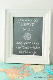 Map Wedding Guest Book The Country Chic Cottage