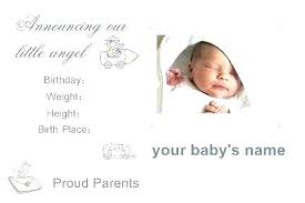 free baby announcement templates birth announcement templates for photographers fourandtwenty co