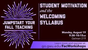 Designing A Motivational Syllabus
