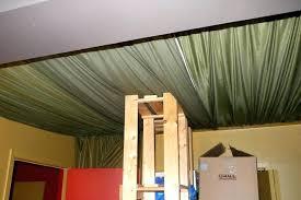 basement ceiling ideas fabric. Ceiling Covering Ideas Fabric By Bathroom . Basement N