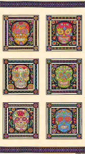 17 best images about Products I Love on Pinterest | Batik quilts ... & Fabric Fiesta - Day of the Dead Skull - Ivory - 24