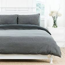 pure era ultra soft comfy jersey knit cotton home bedding sets striped duvet cover and pillow