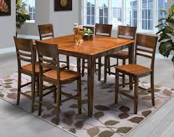 latitudes round corner counter dining set in two tone