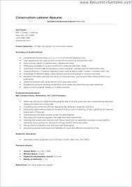 Labourer Resume Template – Francistan Template