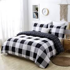 3pcs modern plaid bedding set 100