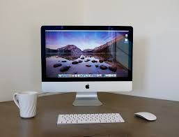 office desktop.  Desktop Imac Desktop Computer Home Office White Apple On Office Desktop S