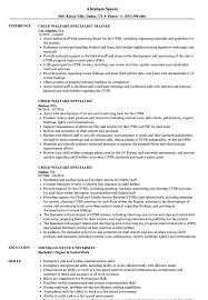 Child Welfare Specialist Resume Samples | Velvet Jobs