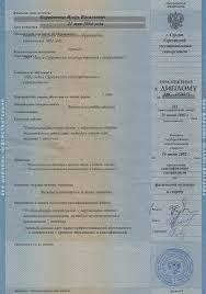 Диплом о среднем специальном образовании Игоря Борейченко