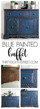 painted furniture colors. blue painted buffet makeover furniture colors