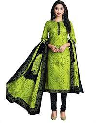 line <b>Women's</b> Ethnic Traditional Printed Pure Cotton Salwar Kameez ...