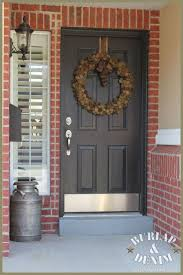 red front door brown house. what color to paint front door with red brick - google search brown house