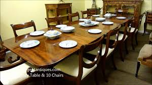 dining table 10 chairs. antique regency mahogany dining table \u0026 10 chairs (03181b).wmv - youtube