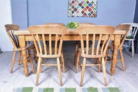 delivery options lovely old rustic farmhouse pine table 6 beech chairs