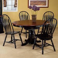 Round Brown Counter Top Plus Black Wooden Legs Also Black