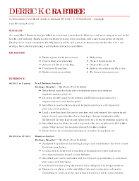 Business Analyst Resume Objective Sample Resume Example Business Enderrealtyparkco 12