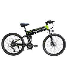 <b>SMLRO S11 electric</b> mountain bike full suspension folding bike 26 in