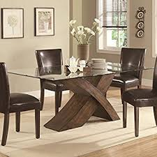 glass dining furniture. 103051 nessa large scaled x base dining table with glass top by coaster furniture