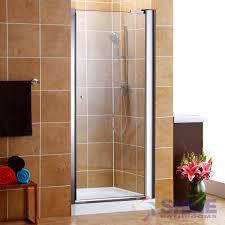 semi frameless pivot shower door without handles
